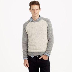 J Crew Donegal wool baseball sweater Sz L